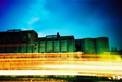 Cement works & traffic blur photo by fotobes