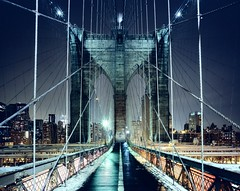 Brooklyn Bridge Walkway, New York CIty photo by andrew c mace