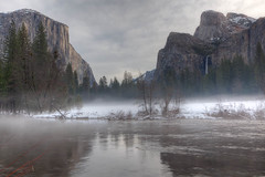 Misty Winter Morning, Yosemite National Park photo by Bridgeport Mike
