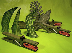 Crocodile clothespins... photo by maralina!