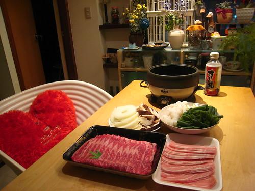 20101231 在家吃壽喜燒