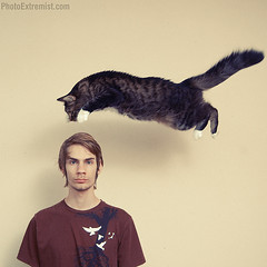 Flying Cat + Tutorial photo by Photo Extremist