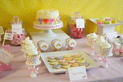 Conversation Hearts Dessert Candy Table photo by Green Apple Paperie