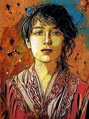 C215 - Portrait of Camille Claudel (from 1884) photo by C215