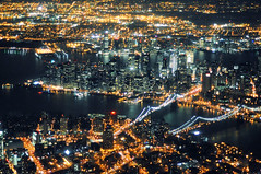 en route to laguardia at night, new york city photo by andrew c mace