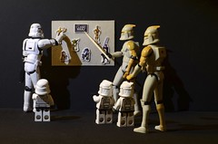 A history lession for the mini Clones and the Mini-Stormtrooper photo by Kalexanderson