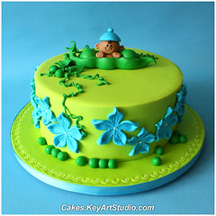 Pea in a Pod Baby Shower Cake photo by Cakes.KeyArtStudio.com