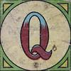 Vintage Brick Letter Q