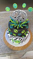 Zebra Peace Cake! photo by Creative Cakes by Ashley