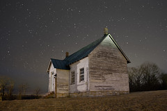 Old 2 Room School House in Looney at Night - Craig County, VA photo by curtisWarwick