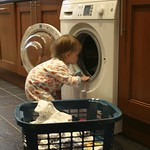 Amy doing the laundry<br/>13 Mar 2011