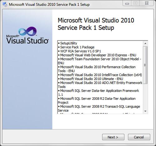 Jon Galloway - Tips on installing Visual Studio 2010 SP1