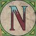 Vintage Brick Letter N