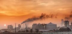 Factory Sunrise! {EXPLORED} photo by  David.Keochkerian 