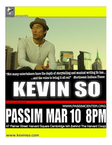 Kevin So Live at Club Passim, March 10th