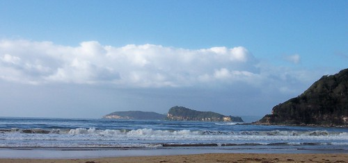 Lion Island & Barrenjoey Head from Umina Beach