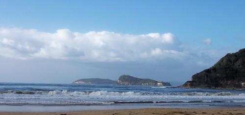 Lion Island & Barrenjoey Head from Umina Beach