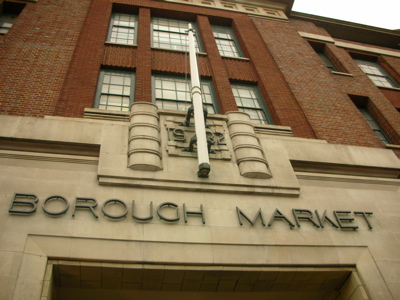 The grand entrance to Borough Market