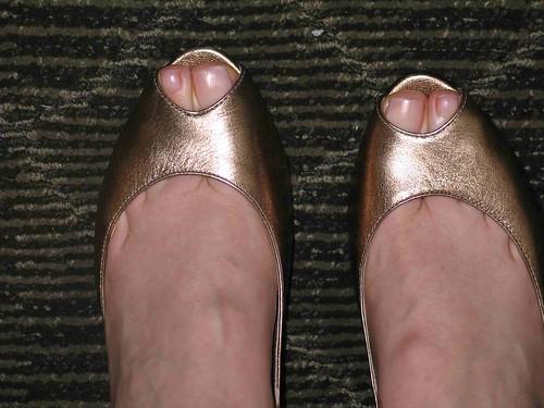 My Gold Peep Toe Enzo Angiolini's