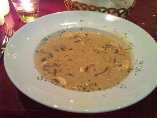 Sliced Mushroom Soup