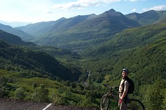 Stuart has a lovely view to Kinlochleven