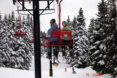 Stephen and I on the chair lift