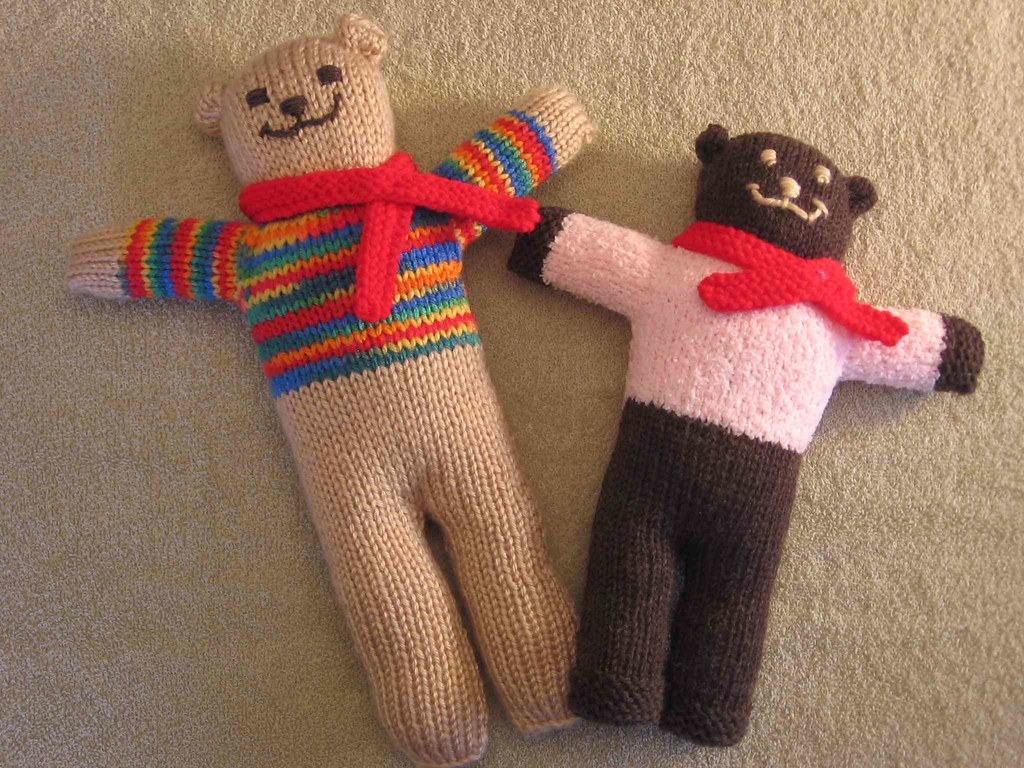 Pink Bear and Stripe Bear
