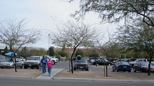 The second photo shows how the RVs were parked in the large lot.