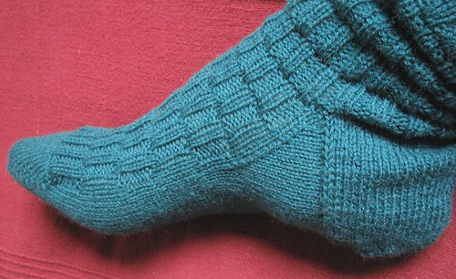 fancy teal sock one done