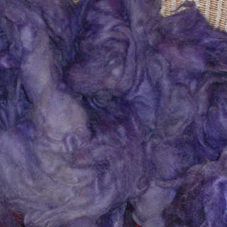 Hand Dyed Shetland/Mohair Roving