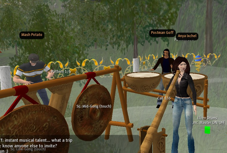 drumming on Second Life