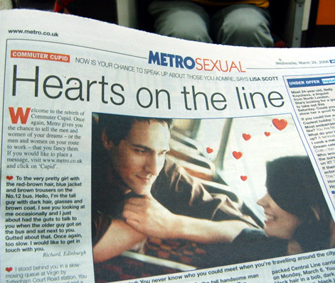 Commuter Cupid returns to Metro