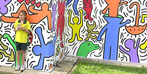 10:41 Keith Haring mural