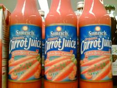 Carrot juice, carrot juice, carrot juice