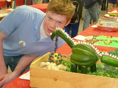 Edible Dinosaur Art - click for larger image