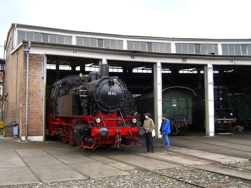 Lokschuppen im Süddeutschen Eisenbahnmuseum Heilbronn