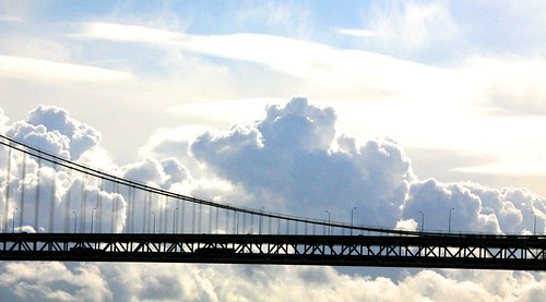 Morning Clouds on the Bay Bridge