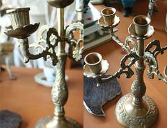 brass candlelabra