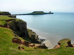 The Worm's Head from Rhosilli, Gower