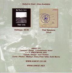Wyau Pyst Libertino - llyfryn CD - cefn