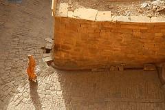 Walking in the Morning, Jaisalmer, Rajasthan, India Captured April 14, 2006.