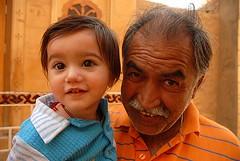 Grandpa and Boy 2, Jaisalmer, Rajasthan, India Captured April 14, 2006.