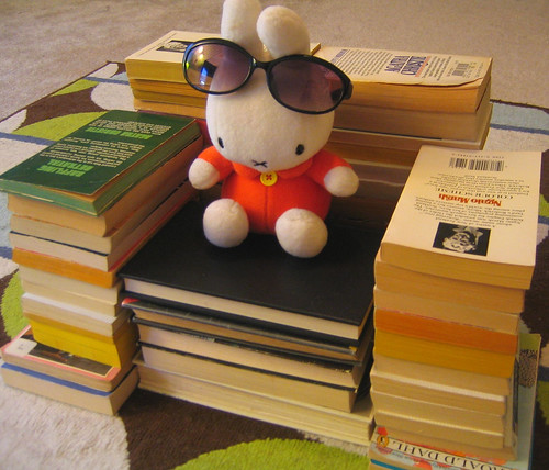 miffy kicks back in her bibliochair