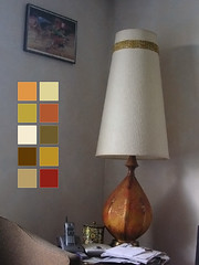 photo of giant lamp with color swatches