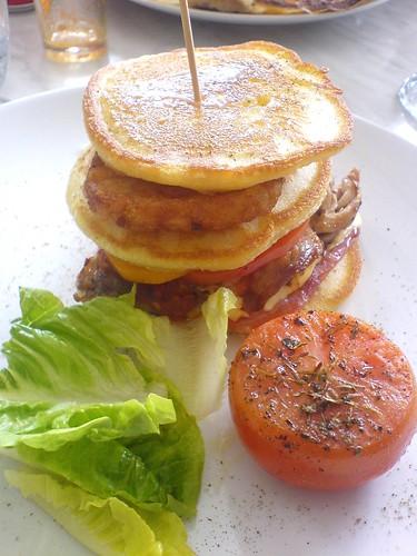 Chicken Burger Pancake