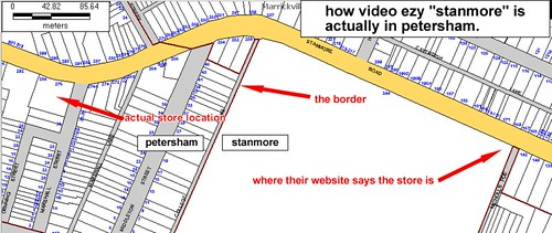 video ezy petersham map