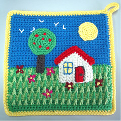 crochet potholder 2