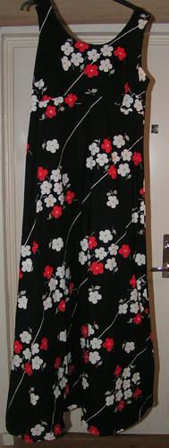Hellång klänning från 1970-talet.