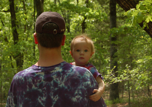 Daddy & Lainie in the Woods