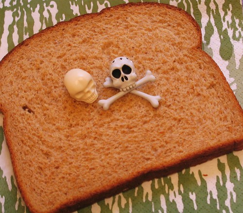 today i feel like death sandwich (open faced)